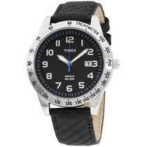 Timex Elevated Classics Black Dial Leather Strap Men's...