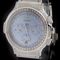 Hublot Steel Elegant Diamond Chronograph