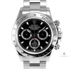 Rolex Daytona Stainless Steel Black Dial Tachymeter Engraved...