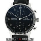 IWC Portuguese Collection Chronograph Stainless Steel Black...