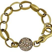 Pomellato Sabbia Yellow Gold Brown Diamond Bracelet BCA303/OBR19