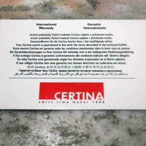 Certina vintage warranty card newoldstock rare