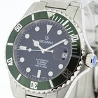 Grovana Swiss Made Automatic Diver Watch Olive Bezel NEW 2Y...