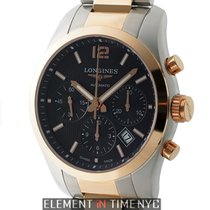 Longines Conquest Chronograph 41mm Steel & 18k Rose Gold...