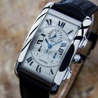 Cartier Tank Americaine Chronograph 18k White Gold Swiss Made...