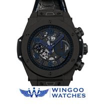- Big Bang Unico All Black Blue Ref. 411.CI.1190.LR.ABB14