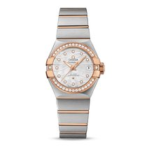 Omega Constellation Co-Axial 27mm Diamond Dial and Bezel in...