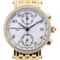 Frederique Constant Classics Chronograph 34 Diamonds Gold plated