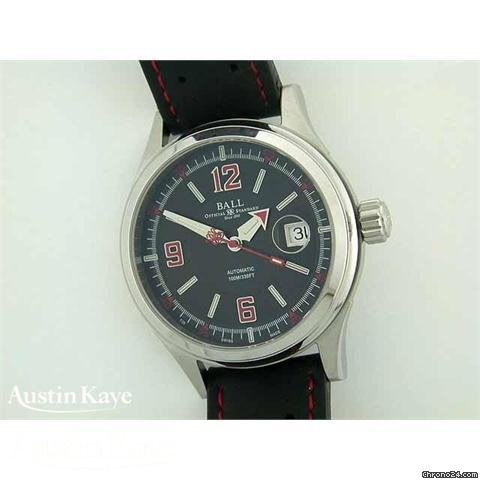 Ball Fireman Racer steel automatic on strap