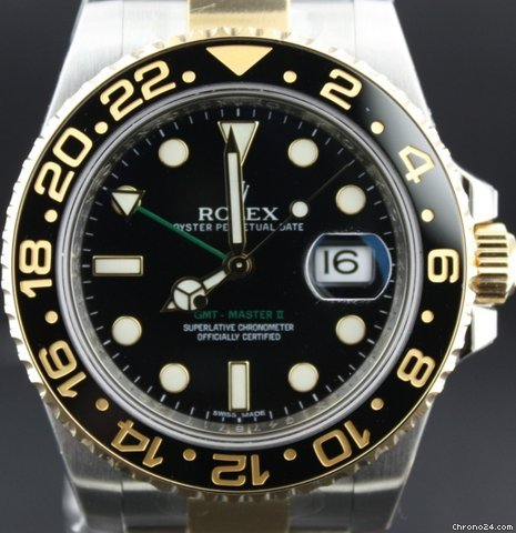 Rolex GMT Master II Bi-Color black dial