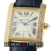 Cartier Tank Collection 18k Yellow Gold Diamond Case 28mm Ref.