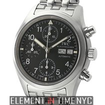 IWC Pilot Collection Pilot Chronograph Stainless Steel Black T...