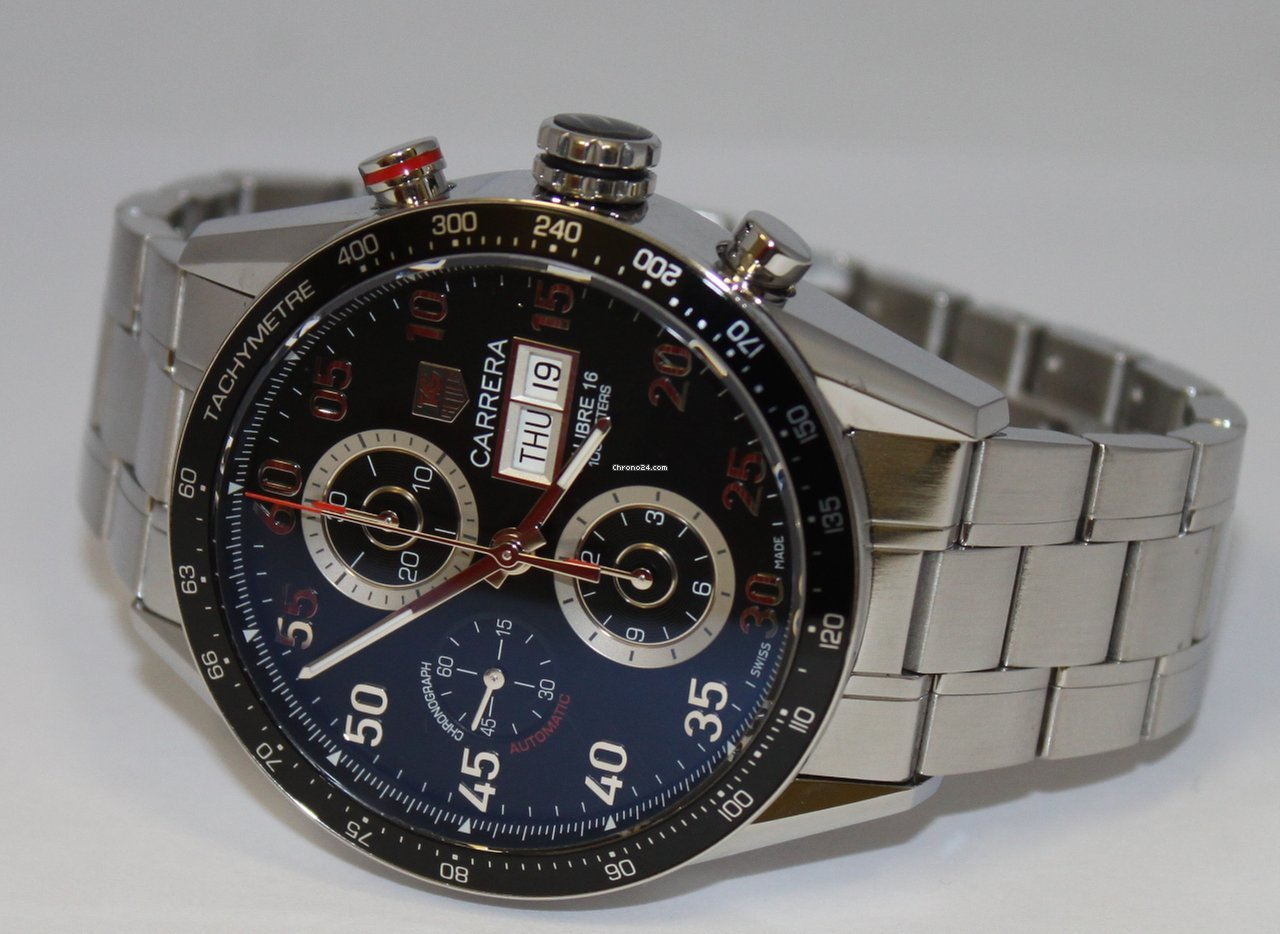 Tag Heuer Carrera Calibre 16 Day Date Chronograph Watch Tag Heuer Carrera Day-date