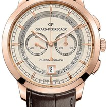 Girard Perregaux 1966 Column-Wheel Chronograph 40mm Rose Go