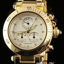 Cartier New Pasha 1353/1 Quartz 35mm Yellow Gold Box/papers/wa...