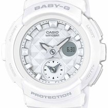 Casio Baby-G Studded Dial - White Case & Band - Analog/Dig...