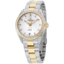Alpina Comtesse Silver Dial Two Tone Stainless Steel Ladies...