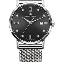 Maurice Lacroix Eliros Date Ladies Black Dial Diamond Steel...