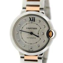 Cartier Ballon Bleu Diamond 18K Rose Gold/Stainless Steel