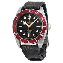 Tudor Heritage Black Bay Black Leather Men's Watch -BKLS