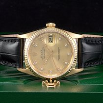 Rolex Datejust Gold/18kt. aus 1987  Mit Diamantzifferblatt