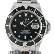 Rolex Submariner Stainless Steel Black T Swiss Dial Circa 1986