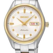 Seiko SRP894J1 Damen Automatik gold silber 35mm 100M
