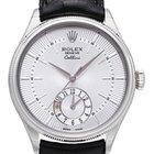 Rolex Cellini Dual Time 50529 Zifferblatt silber