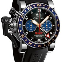 Graham Chronofighter Oversize GMT Steel 2OVGS.B26A