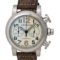 Graham Vintage Silverstone Vintage 44 Chronograph Watch –...