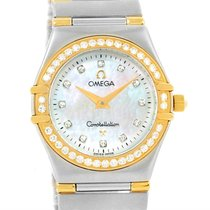 Omega Constellation My Choice Steel Yellow Gold Diamond Watch...