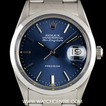 Rolex S/S O/P Blue Dial Air-King Date Precision Vintage...
