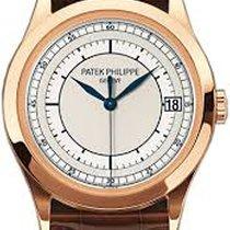 Patek Philippe 5296R Calatrava 18k Rose Gold Silver Automatic NWE