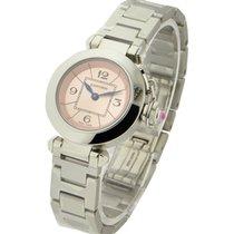 Cartier W3140008 Pasha in Steel - on Steel Bracelet with Pink...