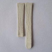 Ebel Lederarmband Kroko 15mm weiß ohne Faltschließe