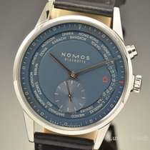 Nomos World Timer Blue Dial 40MM SS Watch 807
