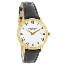 Raymond Weil Toccata Mens Black Leather Band Watch 5488-PC-00300
