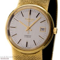 Longines Vintage Conquest Date Automatic 18k Yellow Gold Box...