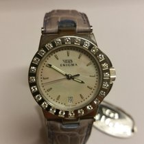 Enigma Caterpillar Diamond Bezel & Mother of Pearl Dial