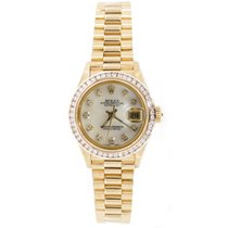 Rolex Presidential 69178 Ladies 18K Yellow Gold Custom Added...