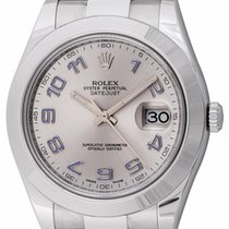 Rolex - Datejust II : 116300 silver dial on heavy Oyster...