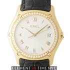 Ebel Classic Wave 18k Yellow Gold Diamond Bezel Ref. 8187F44/6...