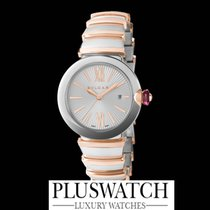 Bulgari LUCEA  Pink Gold 18ct/Steel Silver Dial  33mm RO
