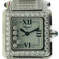 Chopard Happy Sport Diamond Steel Watch w/18k White Gold Diamond