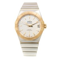 Omega Constellation Gold And Steel Silvery White Automatic...