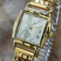 Benrus 1940s Swiss Made Gold Plated Mens Manual Luxury Dress...