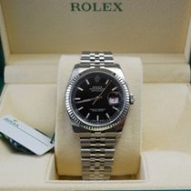 Rolex DateJust Stainless Steel Jubilee Black Dial-116234