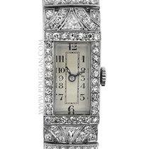 Glycine vintage platinum diamond ladies watch