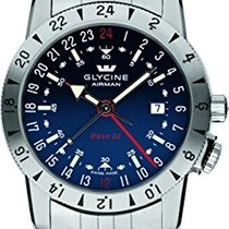 Glycine Airman Base 22 GMT Blue Dial Steel Bracelet Automatic...