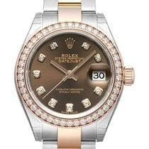 Rolex Lady-Datejust 28 279381RBR Choco Diamant Oyster-Band